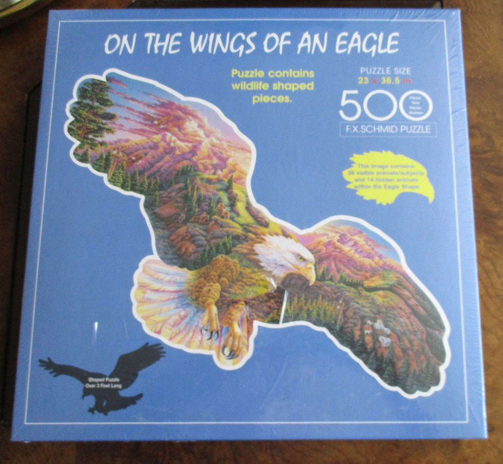 F X  SCHMID ON THE WINGS OF AN EAGLE 500 PC PUZZLE- CONTAINS