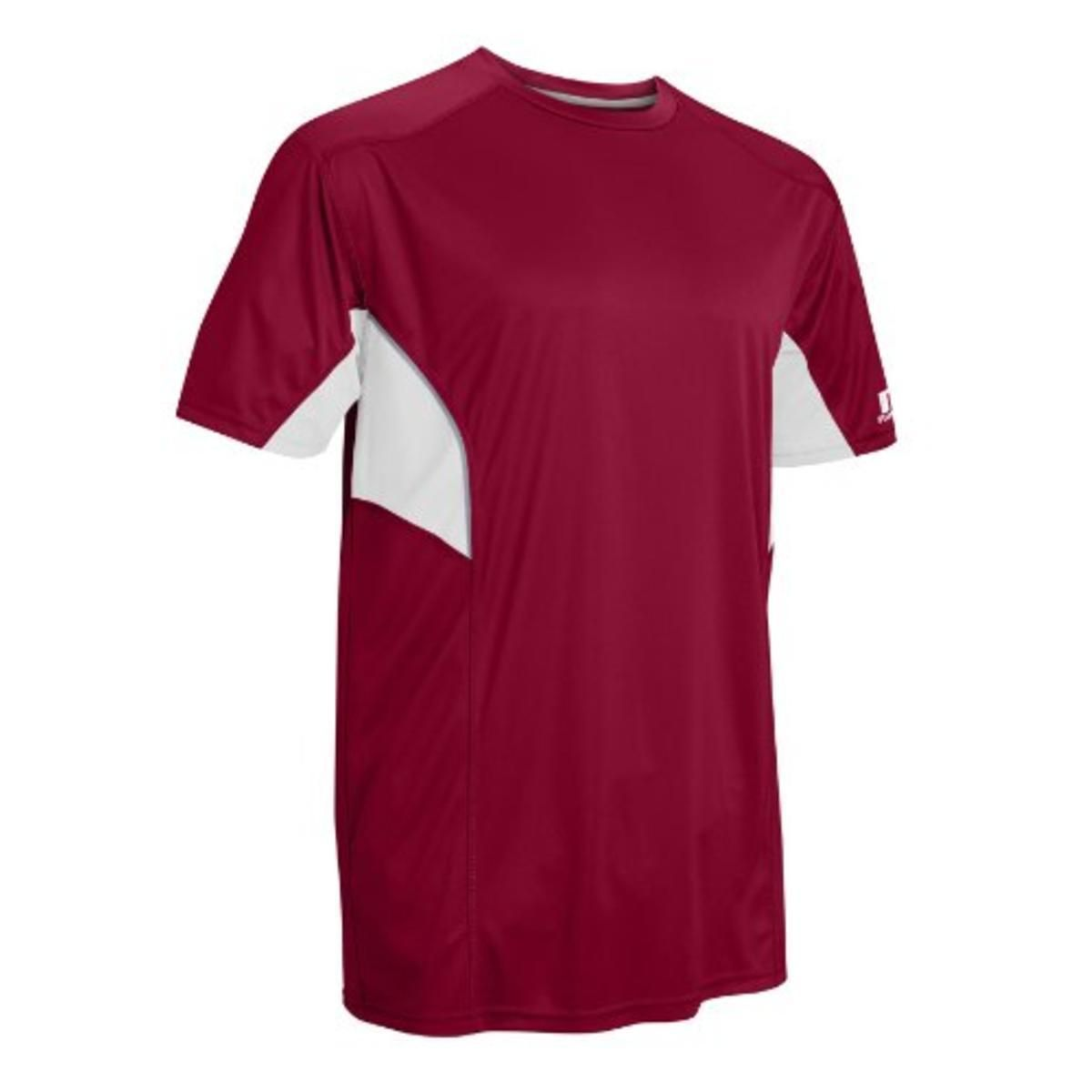 Russell Athletic 1163 Mens Red Colorblock Reflective T-Shirt Athletic L Retail Price $16.99