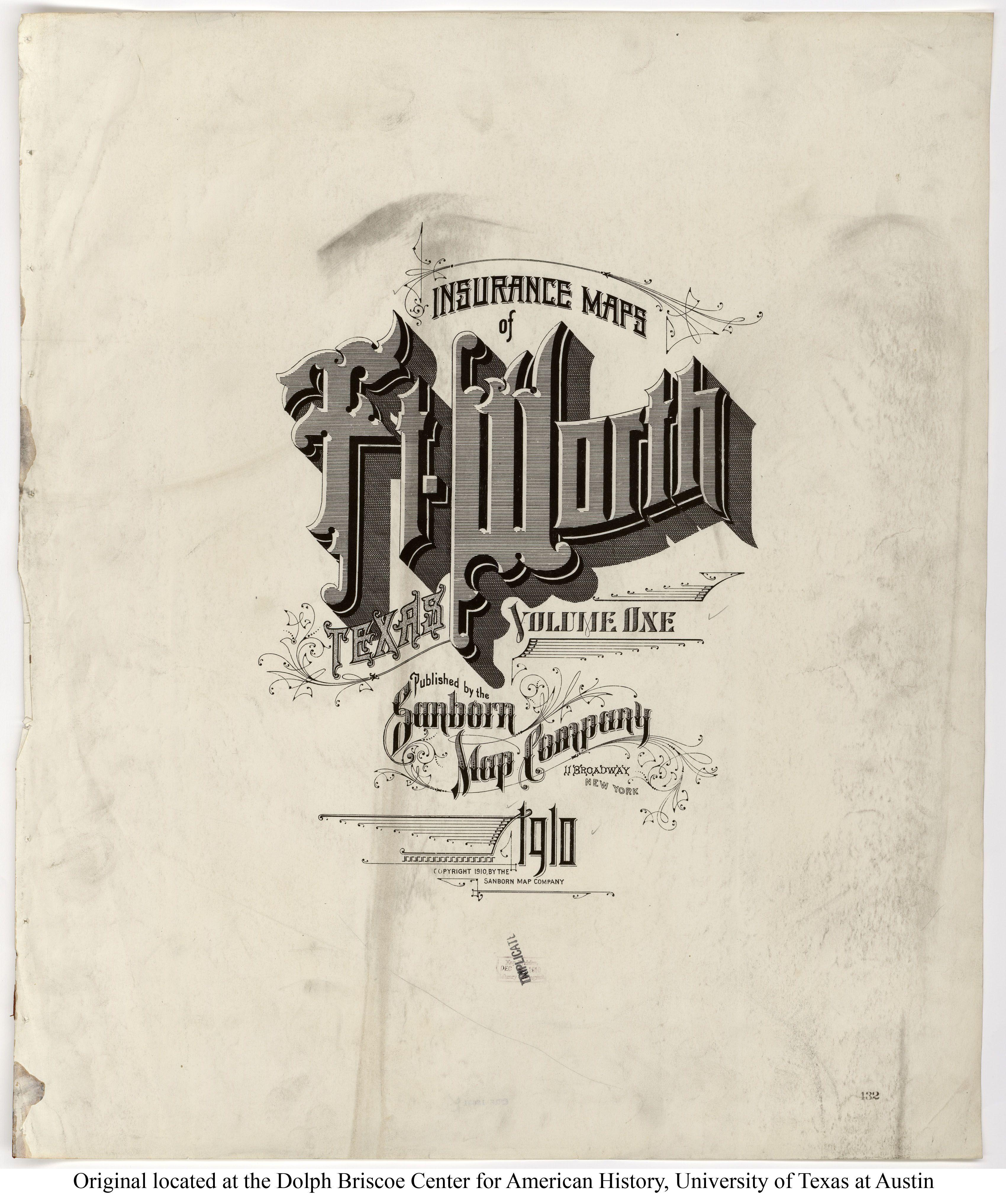 Fort Worth Sanborn Map Company Typography Sanborn Vintage