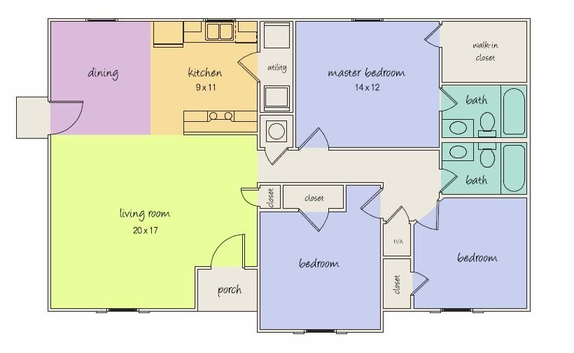 With 4BR And An Open Layout The St Charles Is Roomy But Efficient Build One On Your Land In House Financing From UBH