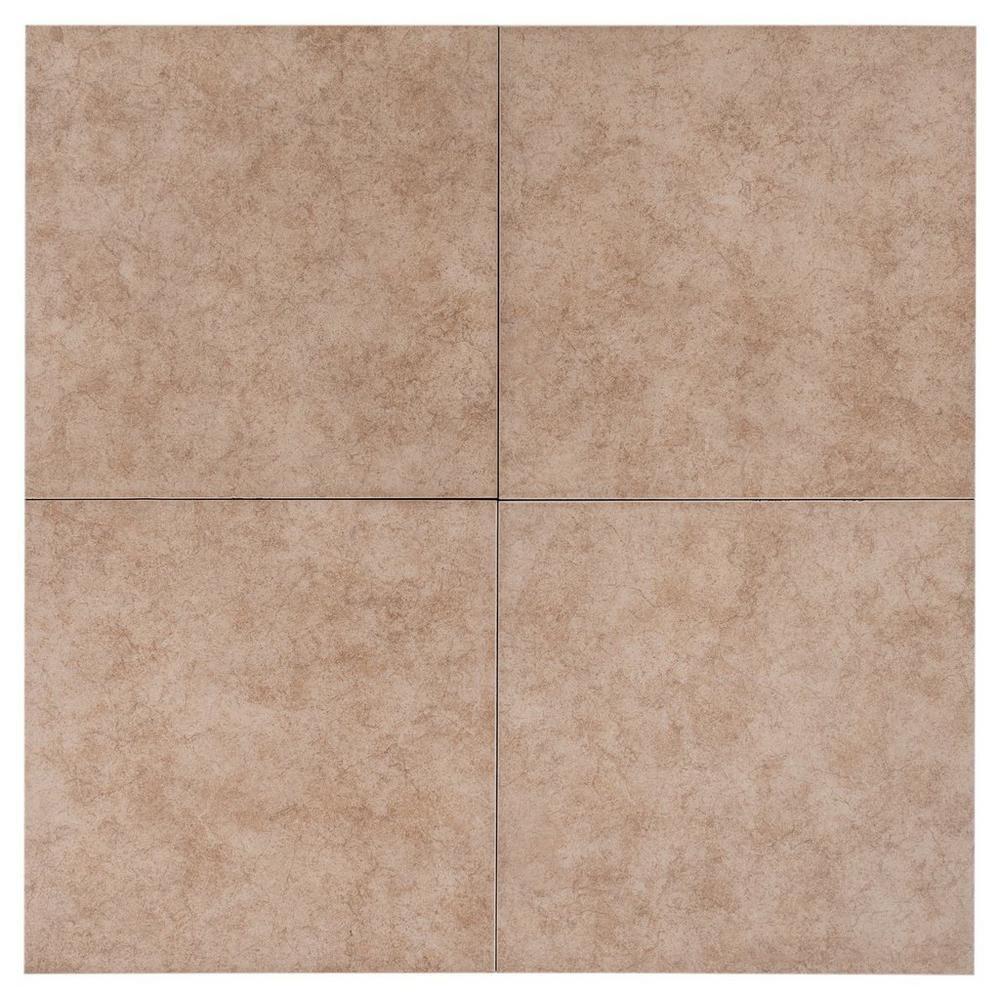 Balboa Beige Ceramic Tile 16in X 16in 100020932 Floor And