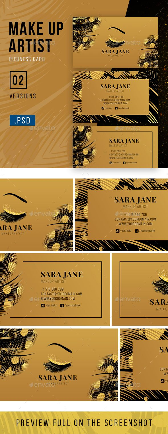 Luxury Makeup Artist Business Card Industry