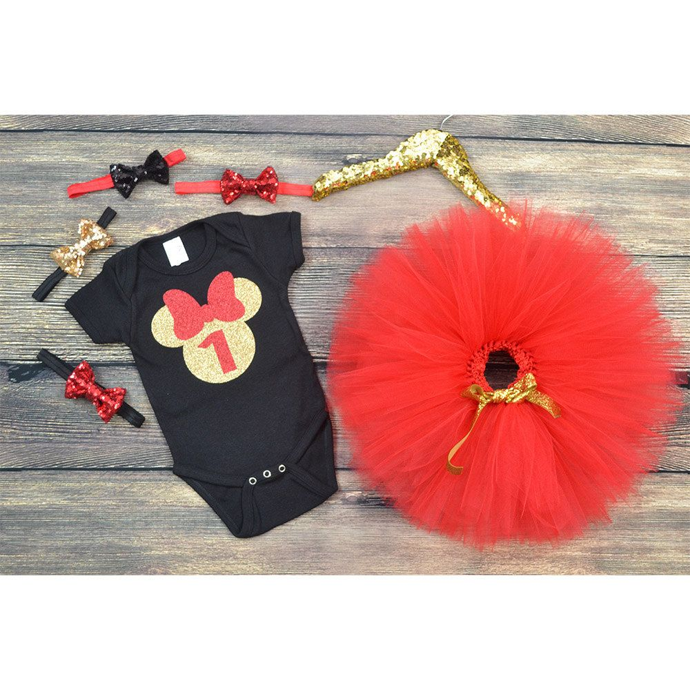 Minnie Mouse First Birthday outfit Minnie Mouse 1st Birthday Black
