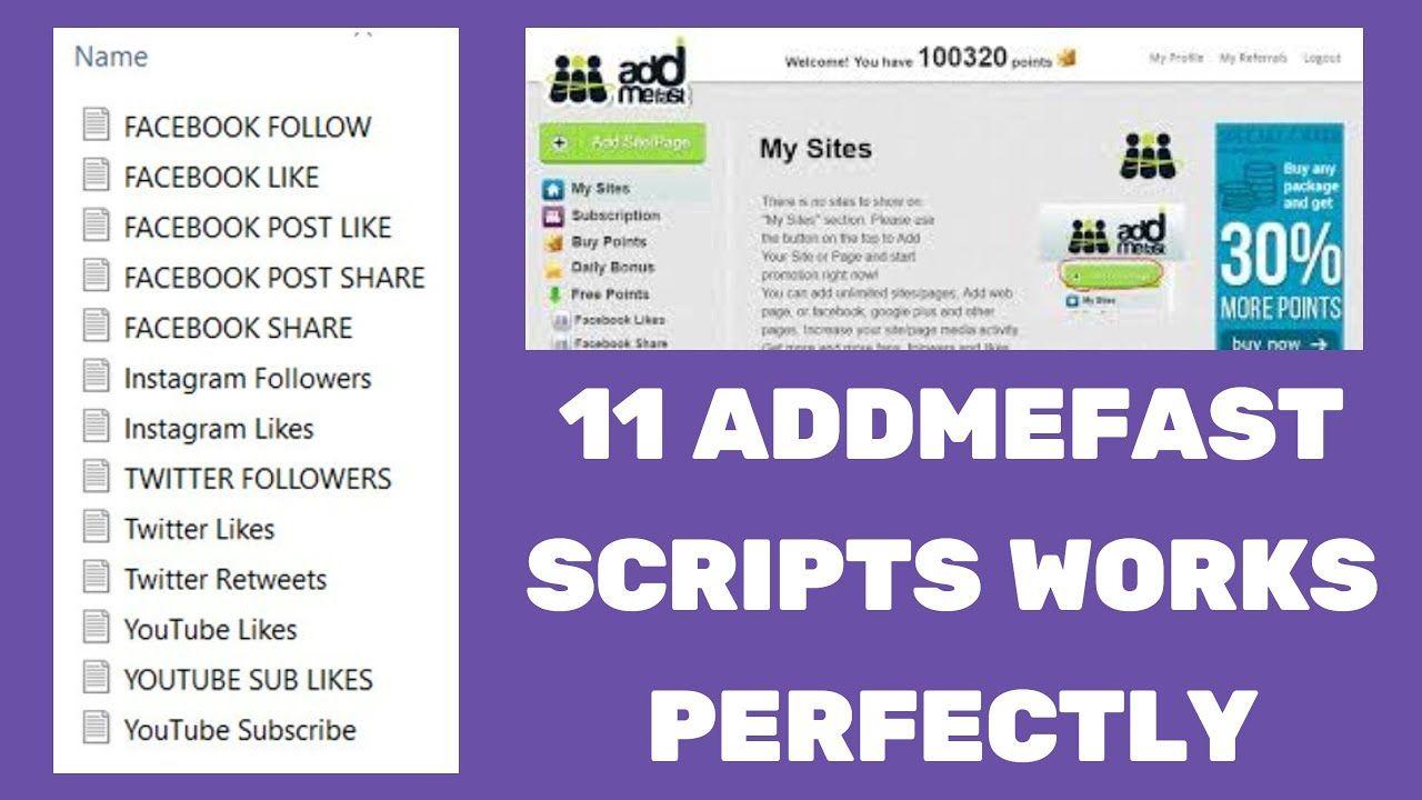 Addmefast 11 Imacro Scripts Addmefast Bot Addmefast Imacro Macro Scr Script Facebook Posts Social Media