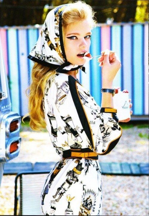 Vogue- Hermes dress & scarf