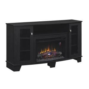 59 In Media Console Electric Fireplace In Black 25mm4495 Pb84 At The Home Depot Electric Fireplace Fireplace Home Decorators Collection
