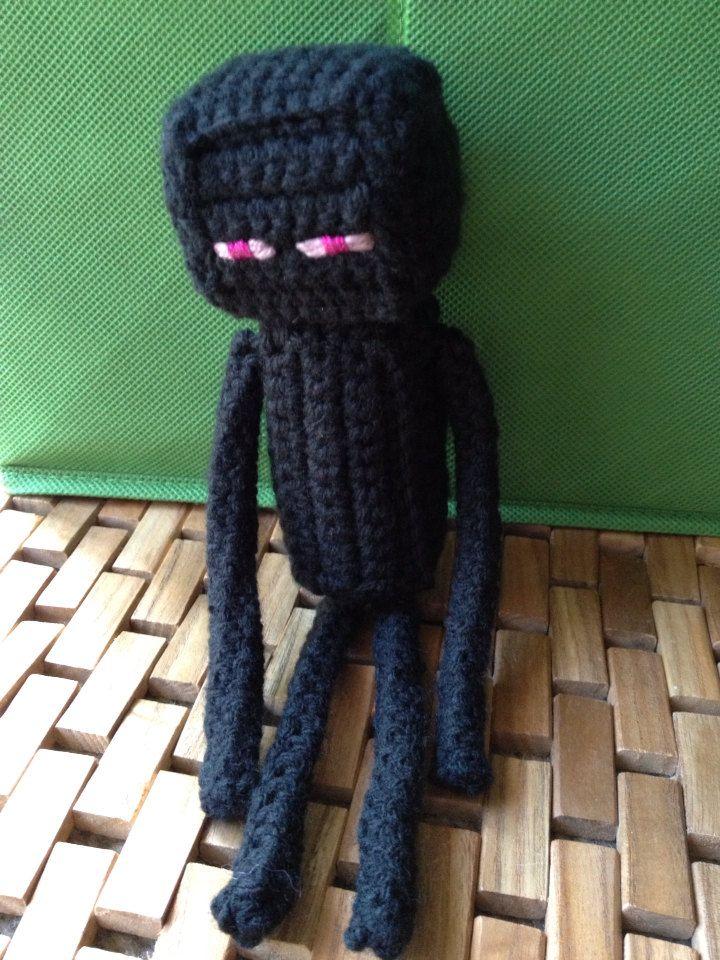 Minecraft inspired enderman amigurumi plush by stitchesnstring ...