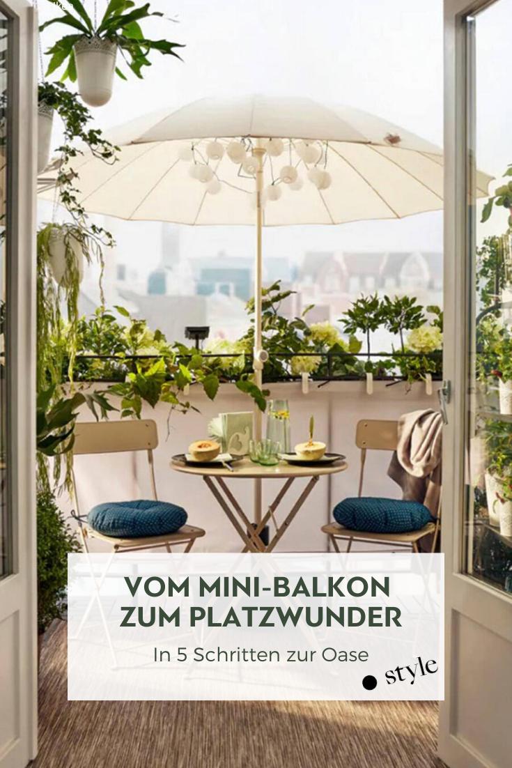 Vom Mini Balkon zum Platzwunder in 8 Schritten   Wohnung balkon ...