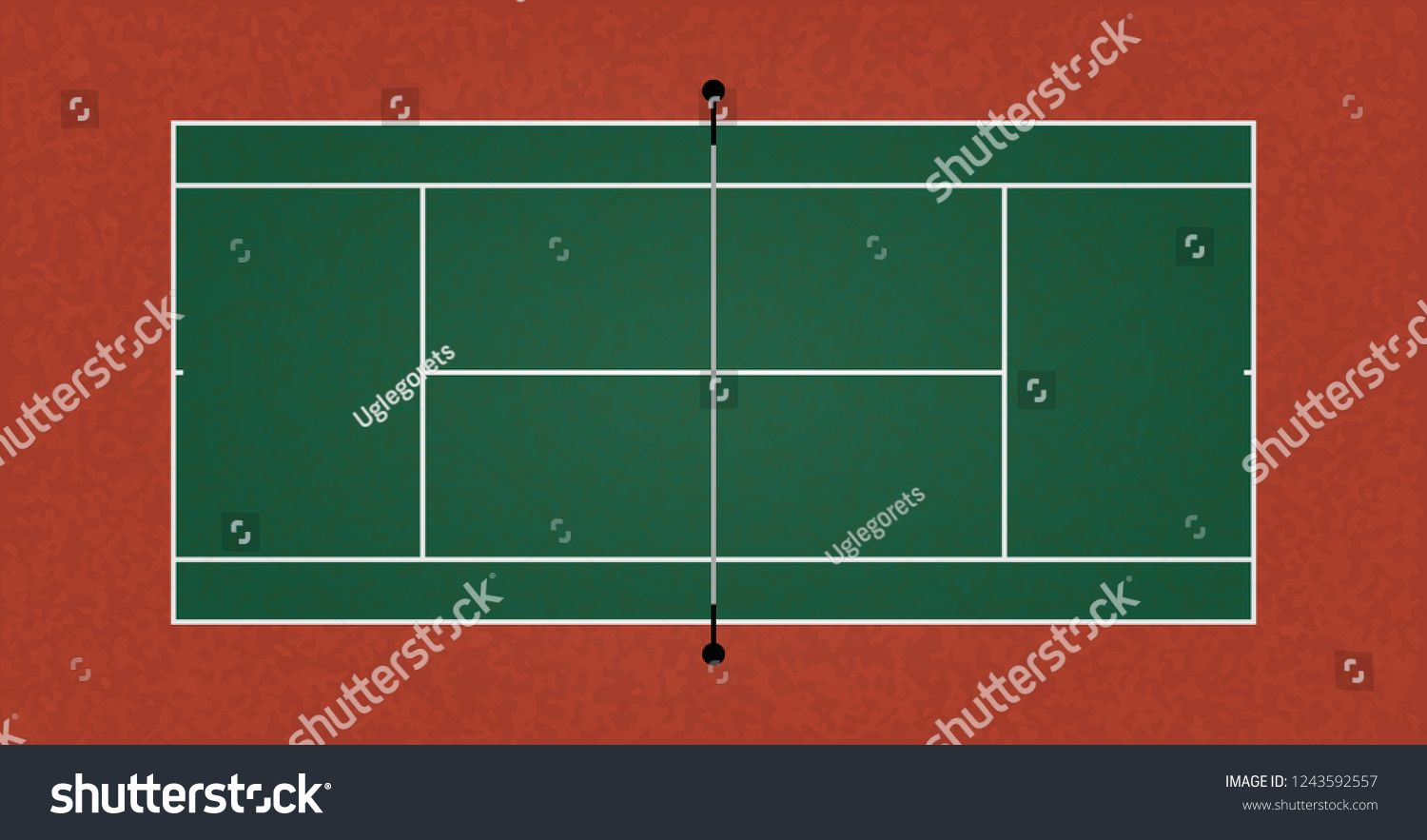 A Textured Realistic Tennis Court Illustration Vector Eps 10 Ad Sponsored Tennis Court Textured Realistic Tennis Court 10 Things Image