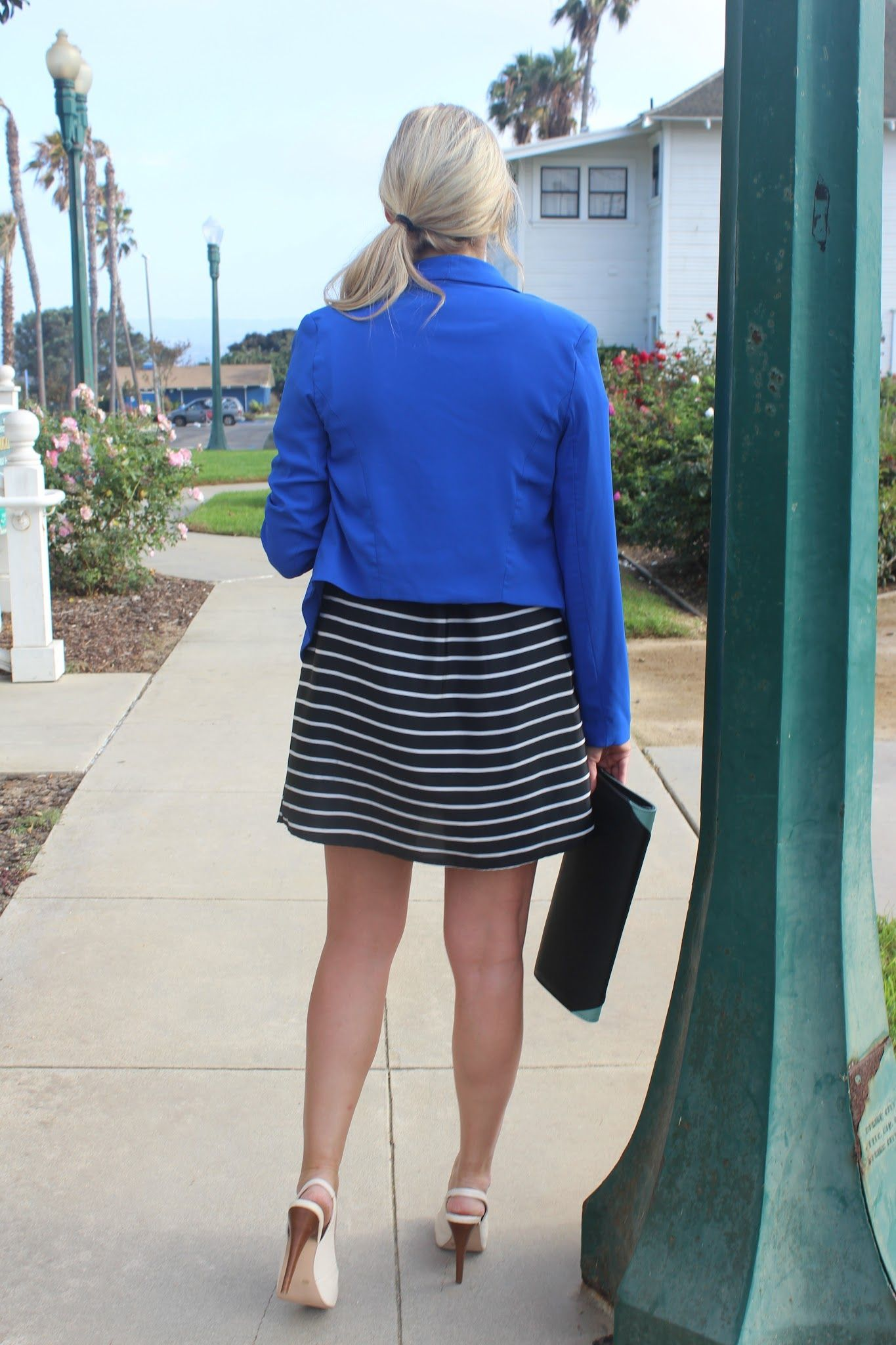 fd62f8bd4b44 Easy way to Dress Up a Striped Dress