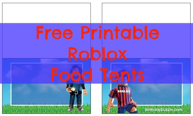 Free Printable Roblox Food Tents