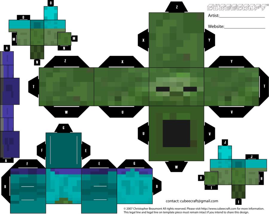 Minecraft Zombie Cubeecraft by Mariorocks655.deviantart.com on ...