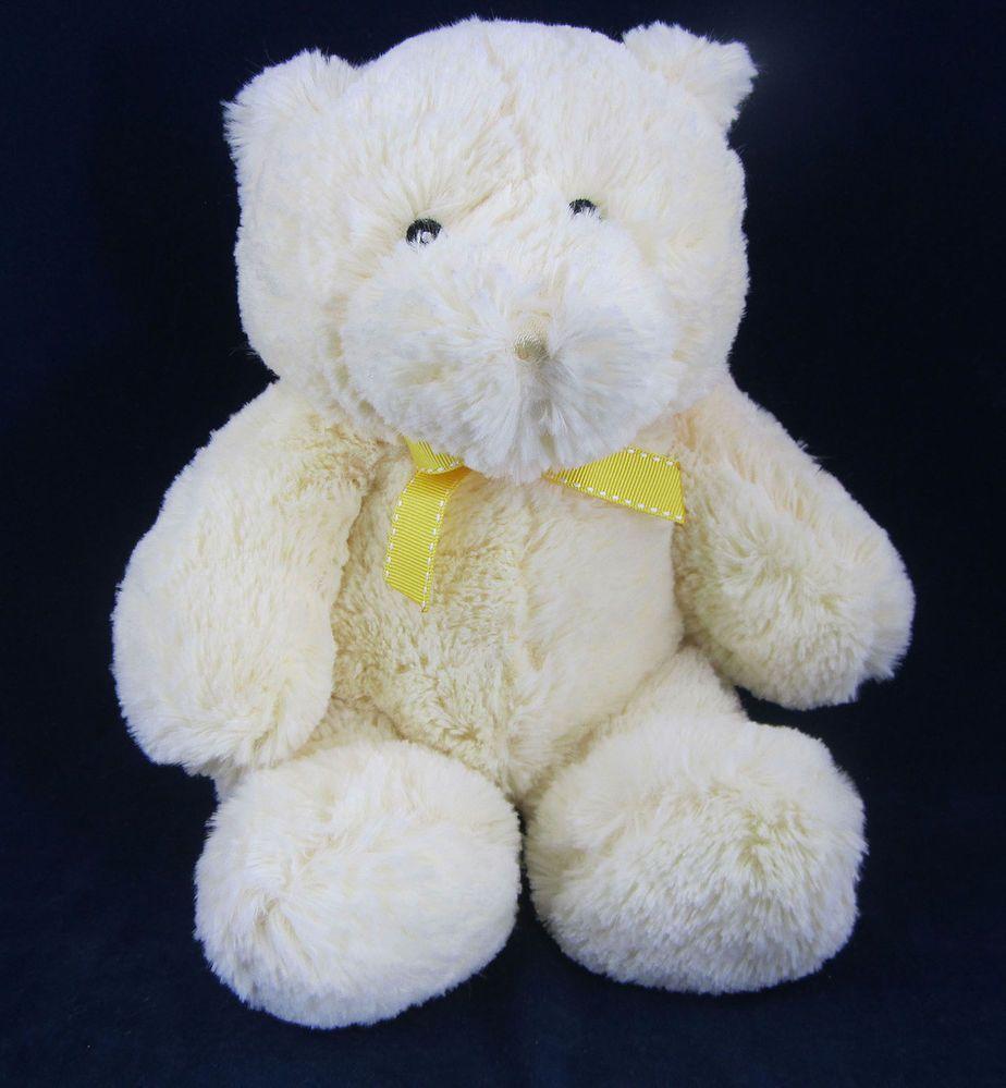 Kids preferred pale yellow plush stuffed teddy bear euc