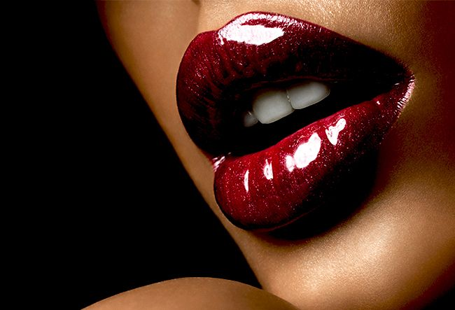 luscious red lips -- love red