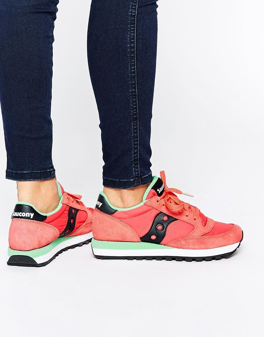 Buy Women Shoes / Saucony Jazz Red & Yellow Trainers