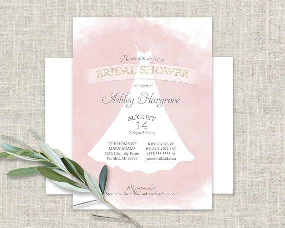 Bridal Shower Invitation Template Blush Gold Wedding Shower - bridal shower invitation templates