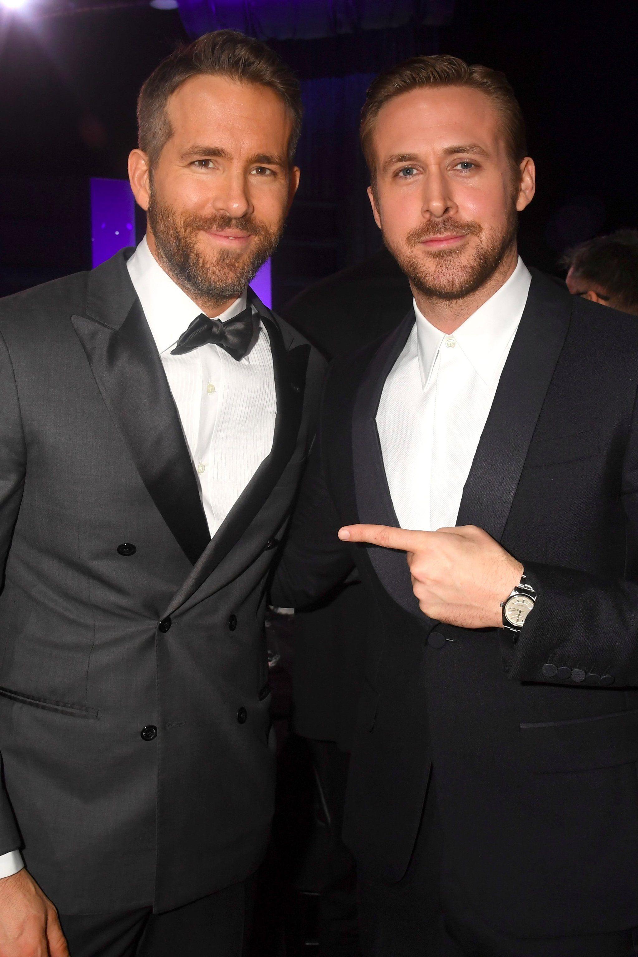 Ryan Reynolds and Ryan Gosling Hug and Stare Into Each