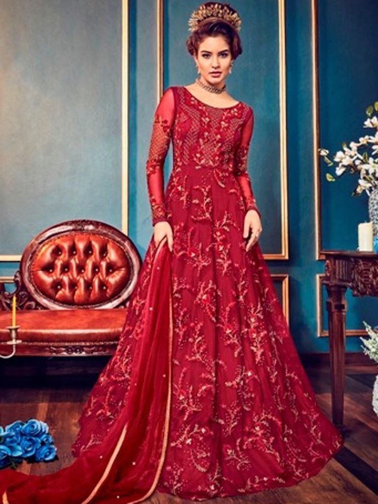 Indian Designer Latest Bollywood Long  Style Anarkali  Suit  Party Wear Dresses