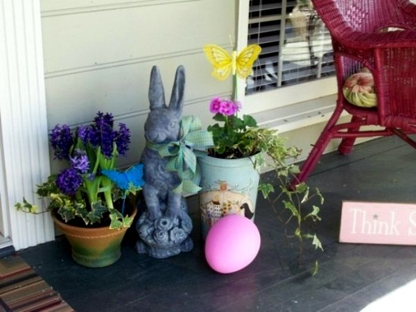 Easter Outdoor Decorations 27 Ideas