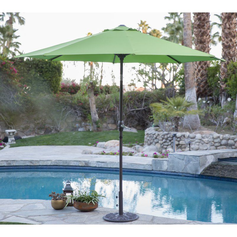 9 Ft. Steel Market Patio Umbrella Apple Green   8000NZ 15 0336TPX, Coral  Coast