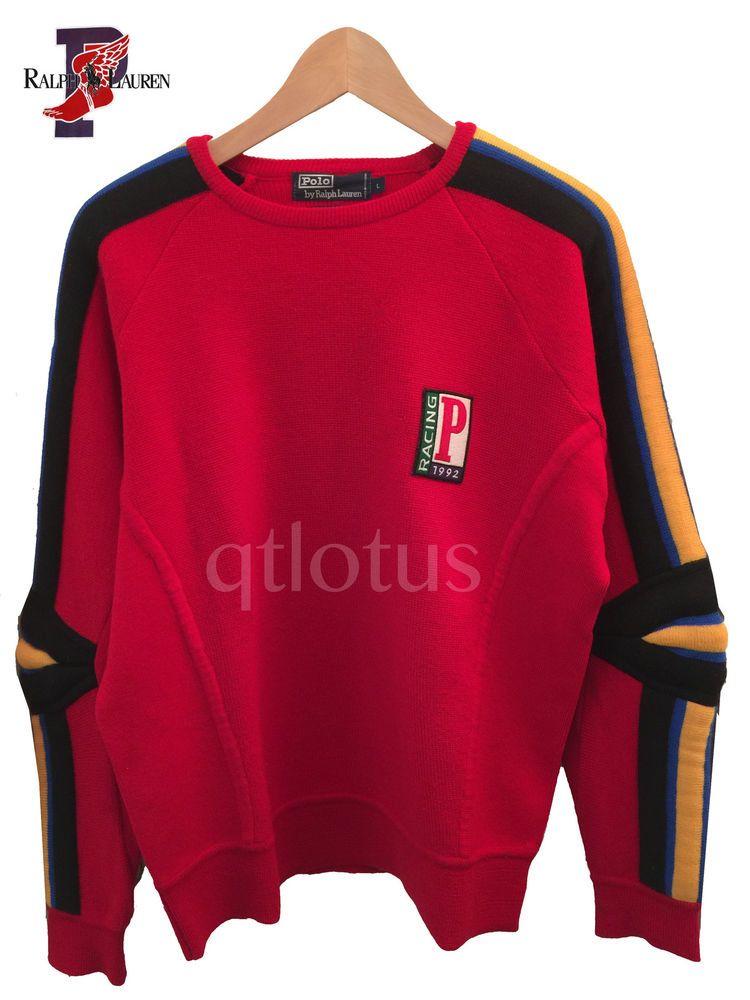 1992 Polo Ralph Lauren Racing Sweater Jacket Vintage P