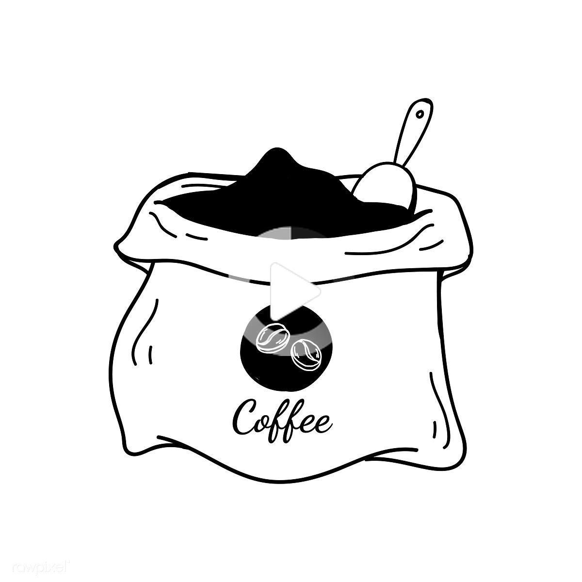 Download free vector of sack of coffee beans icon vector