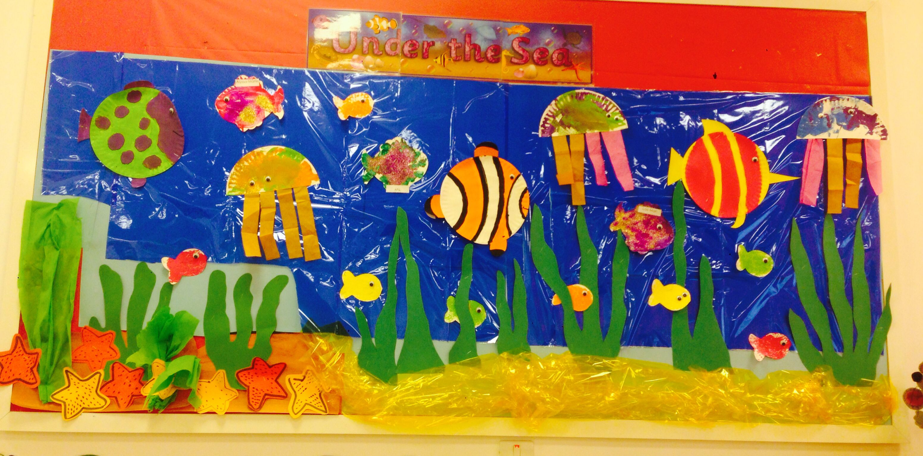 Display Under The Sea Water Theme Fish
