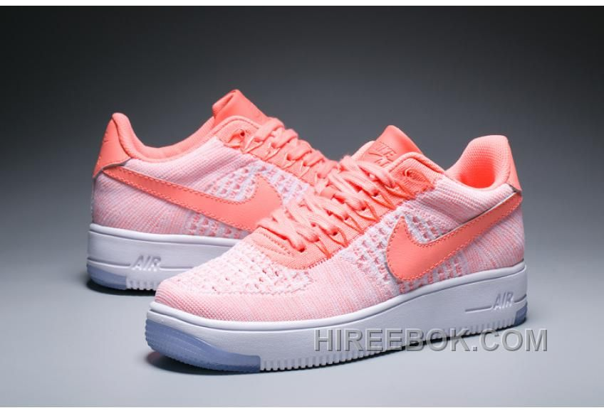 2016 Nike Air Force 1 Flyknit 36 39 Women Sneaker White Pink