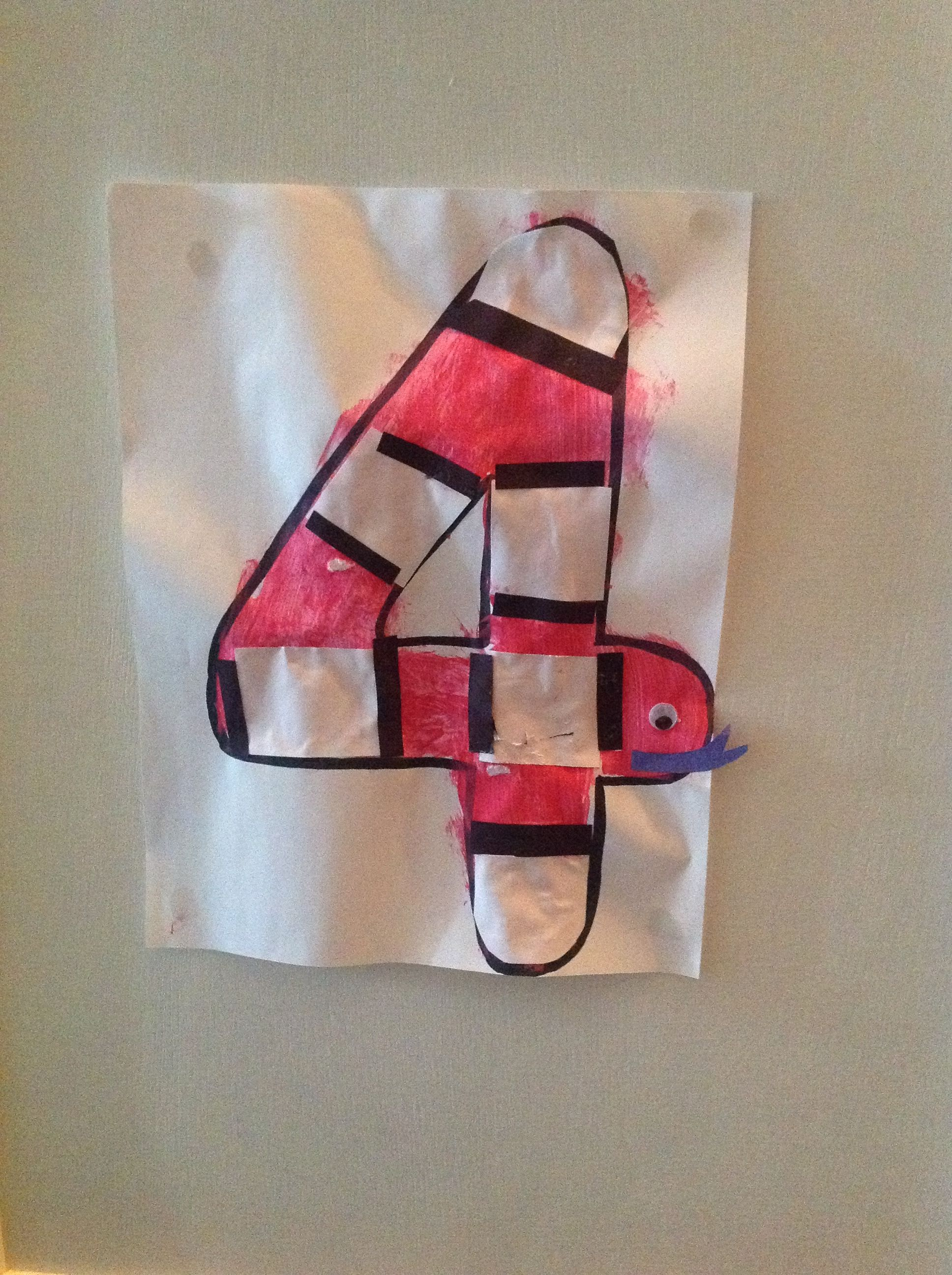 Number 4 Craft | Jake Dylan | Preschool crafts, Preschool ...
