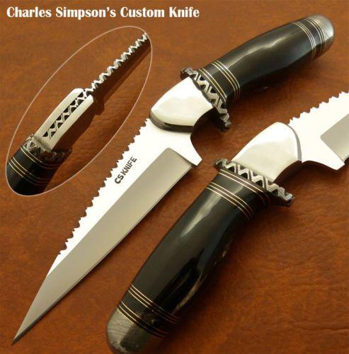 Charles Simpson's 1 of A Kind RARE Custom Knife File Work