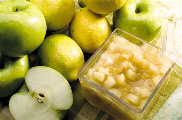 Dulce de manzana-limón