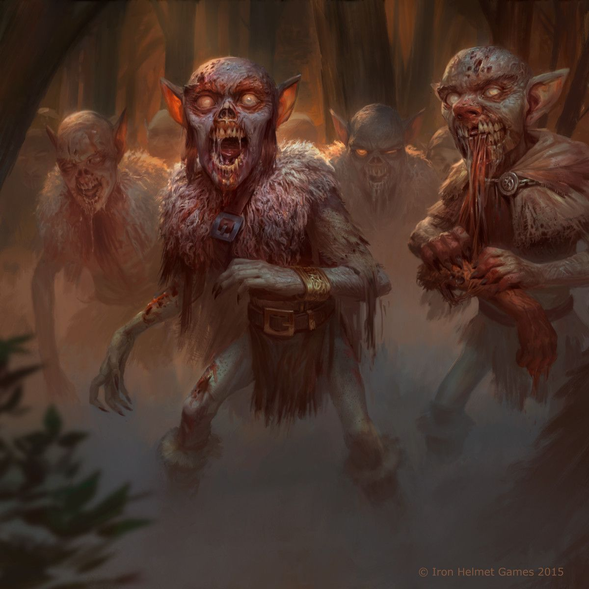 Zombie Horde Art Zombie Goblin H...