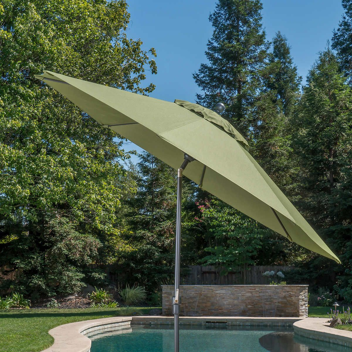aa0e8164d7409 Costco $139 Green ProShade 10' Auto Tilt Aluminum Umbrella 4.7 out of 5  stars. Read reviews. 4.7 (16) Your Price139.99$ Shipping ...