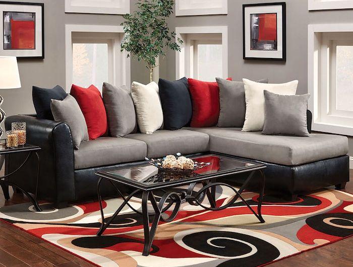 1001 conseils et id es quelle couleur va avec le rouge id es salle manger salon rouge. Black Bedroom Furniture Sets. Home Design Ideas