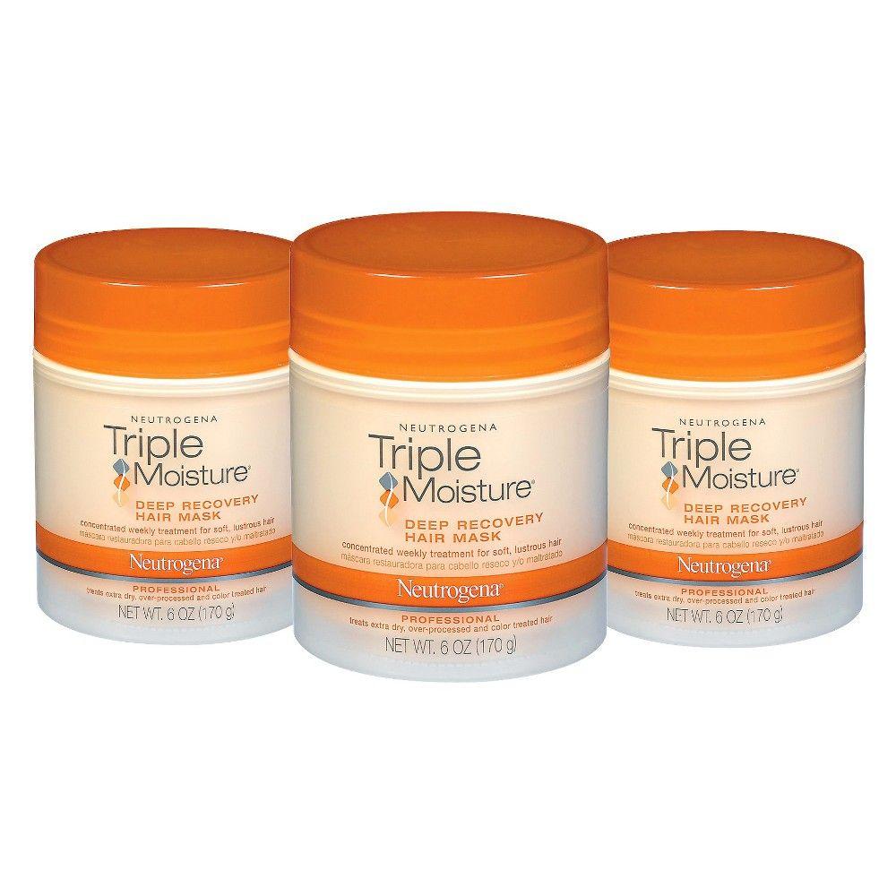 Neutrogena Triple Moisture Hair Mask Set 3 Pack Moisturizer