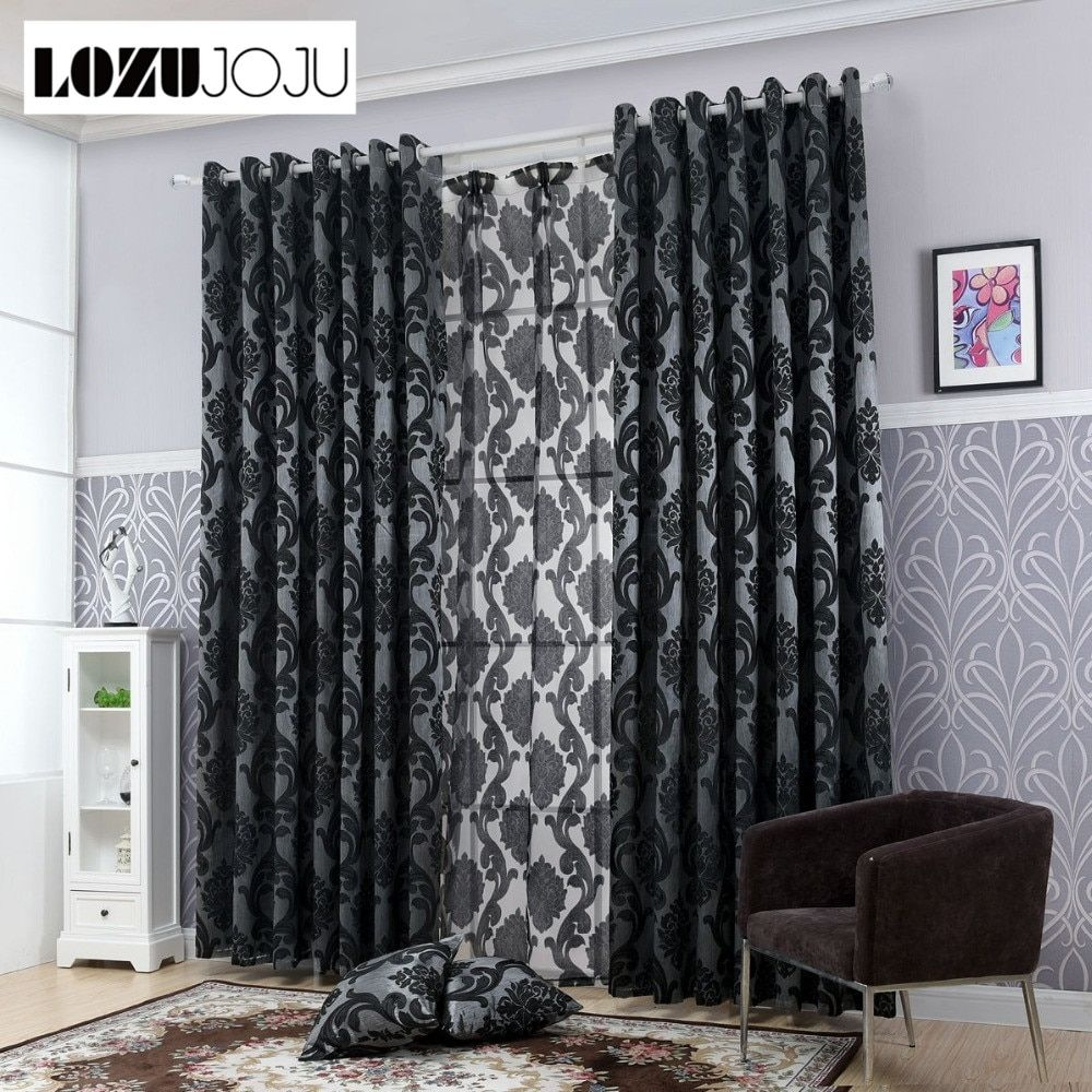 Lozujoju Geometry Curtains For Living Room Curtain Fabrics Window