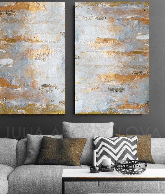 Grey Gray Gold Black Juliaapostolova Minimalist Abstract Painting Goldleaf Wallart Set Abstractart Canv Gold Wall Art Neutral Wall Art Luxury Art
