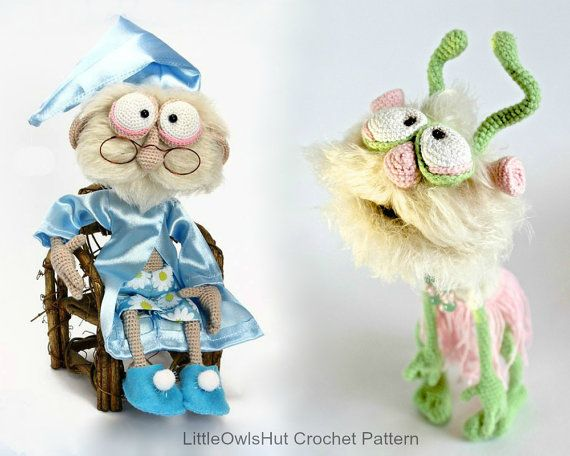 058 Granddad Feodor And Alien Picolumb Crochet Pattern Pdf File