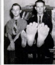 My Grandma's Cousin, Buster aka Big Foot - traveled with the freakshow