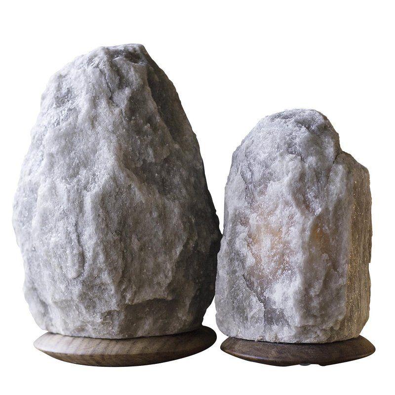 Rare Grey Himalayan Salt Light Set of 2