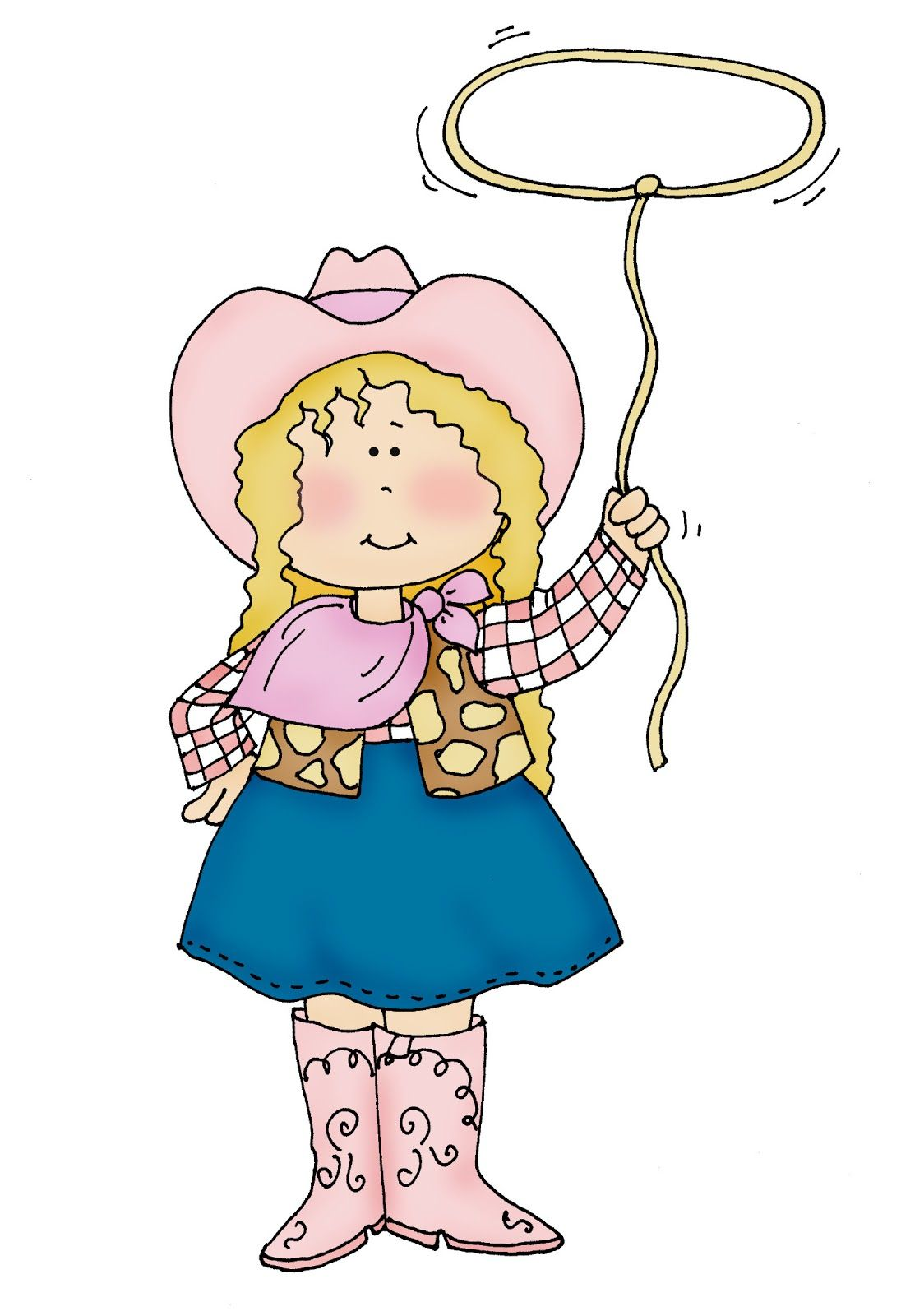 dearie dolls digi stamp cowgirl | Free Dearie Dolls Digi Stamps