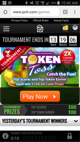 Win Free Cash Playing 52Card Pick Up and Token Toss Right