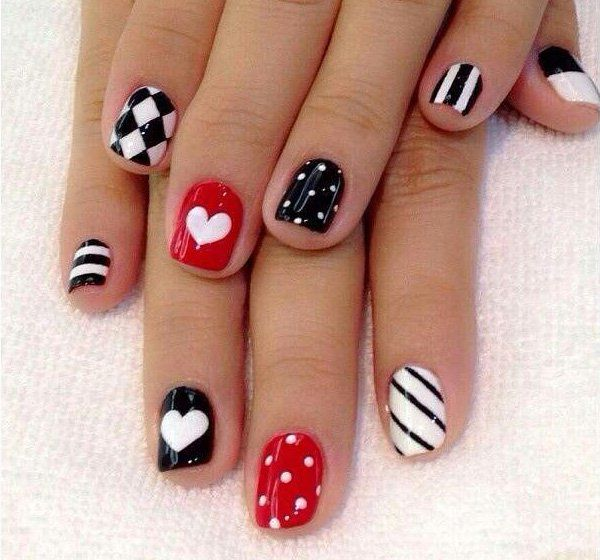 70+ Heart Nail Designs | Gold eyes and Manicure