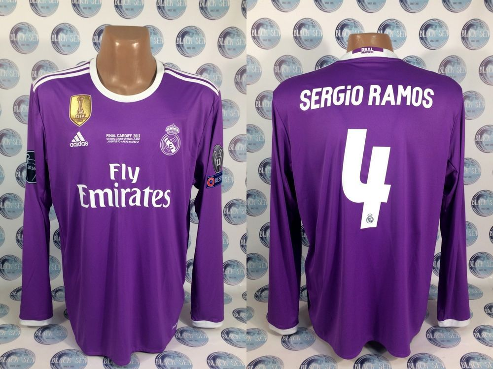 Real Madrid 2016 2017 4 Sergio Ramos Football Soccer Shirt Jersey Camiseta Xl Adidas Realmadrid Soccer Shirts Ronaldo Football Ronaldo
