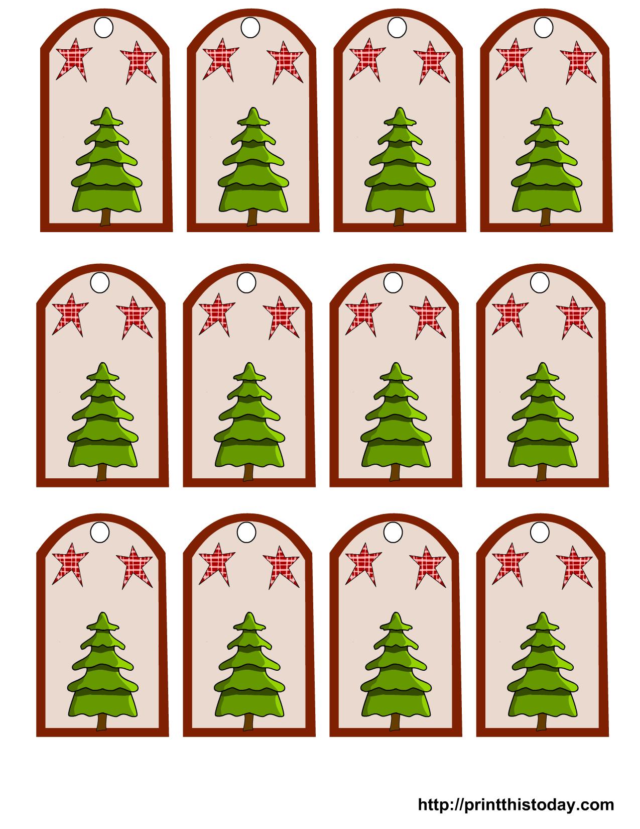 Christmas Gift Tags With Christmas Tree And Stars Christmas Tags Printable Christmas Gift Tags Printable Free Printable Christmas Gift Tags