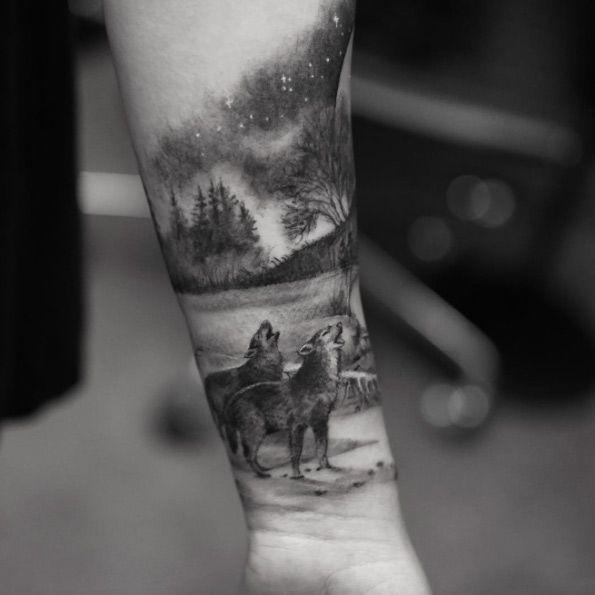 Pin De Fabricio Dos Santos En Aoc Tatuajes Forestales Tatuajes