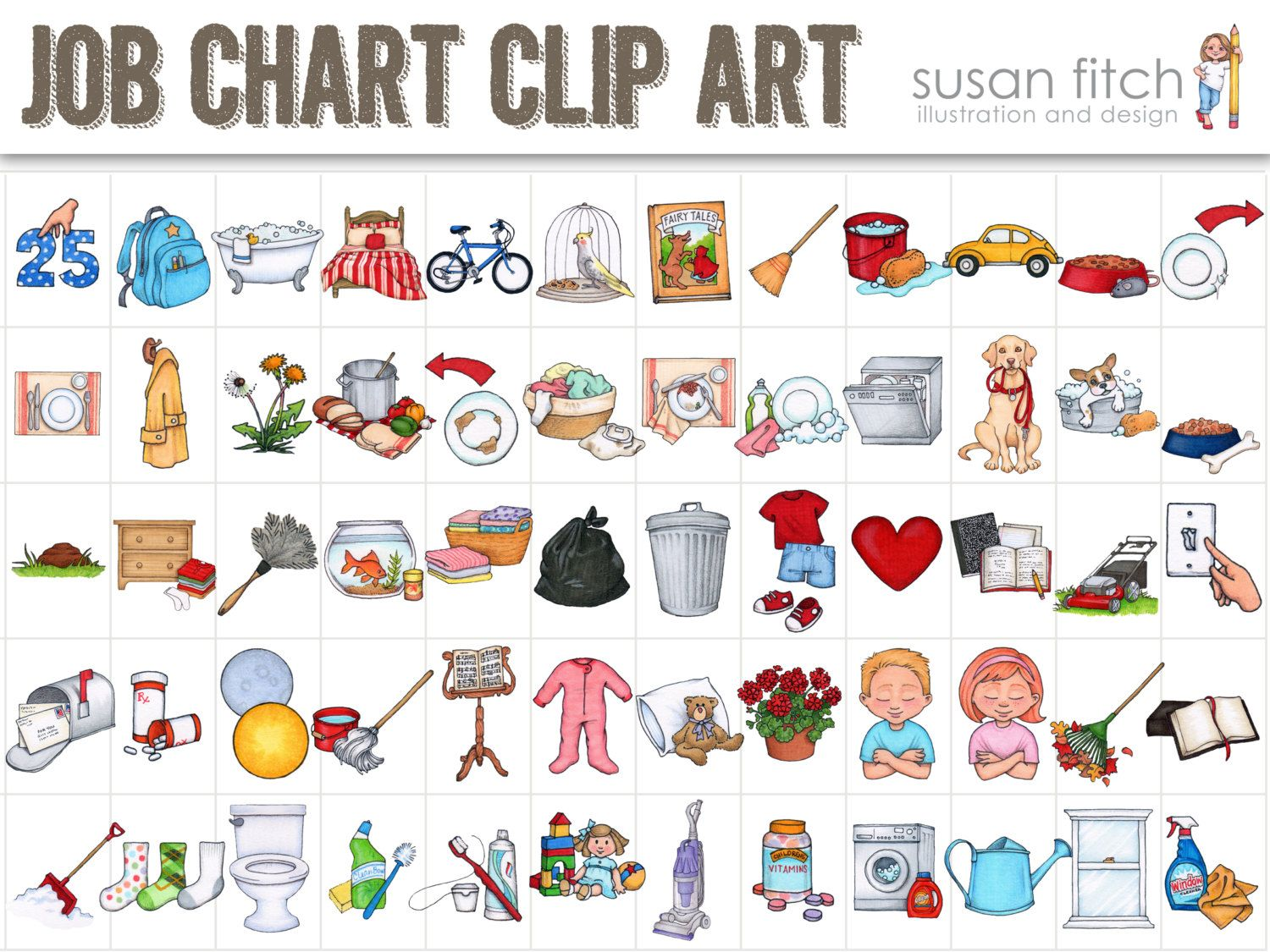 This is a photo of Vibrant Printable Chore Pictures