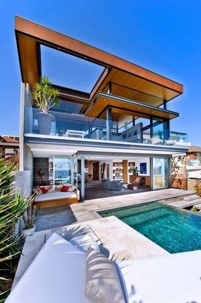 18 Modern Glass House Exterior Designs: Home Decor 2015 Colorful House Amazing Designed Swimming