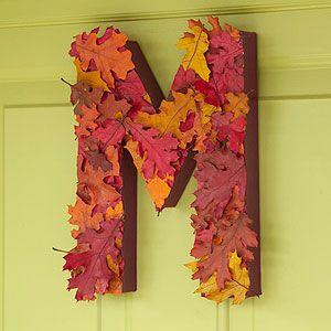 Alphabet Fall Decoration