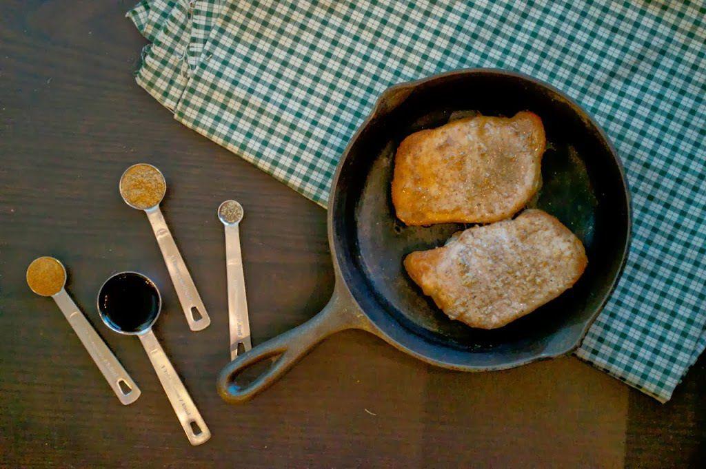 Paleo Coriander Pork Chops - Plaid & Paleo